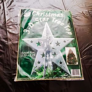 Vintage 3D Star Tree Topper